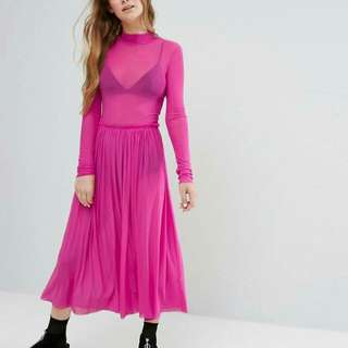 Monki Pink High Neck
