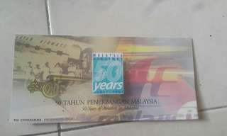 Antique stamp Malaysia Airlines 50 years Aviation