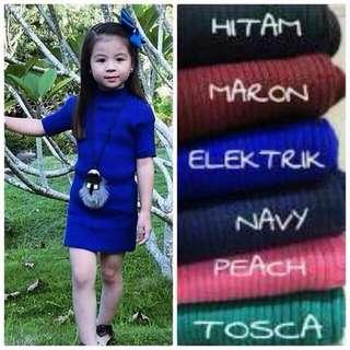 Dress anak Rajut Halus