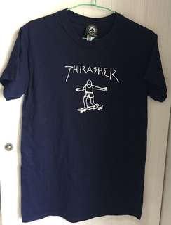 thrasher滑板人短袖