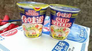 SALE  CUP NOODLES SEA FOOD  BUY 1 TAKE 1 @ 140.00