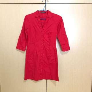 🚚 MANGO 紅色貼身洋裝