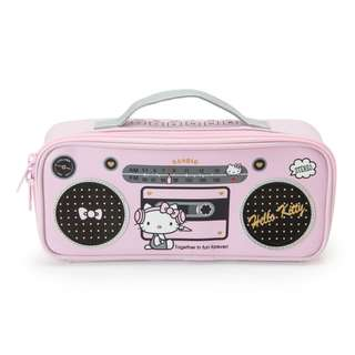 Japan Sanrio Hello Kitty Radio Cassette Type Pen Case
