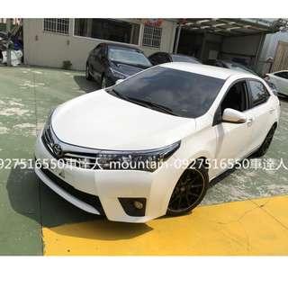 2015年 豐田 ALTIS 小G 白色 專營台灣優質中古車-二手車