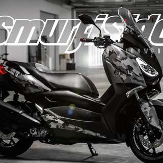 Motorcycle full body wrap by SMURFISIDE