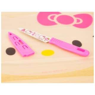Pisau dapur pisau buah mini stainless steel motif Hello Kitty - KHM061