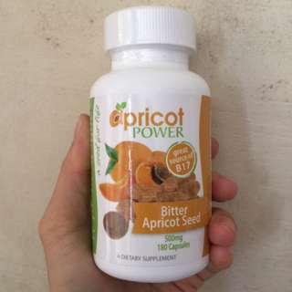 Apricot Power Bitter Apricot Seed, 500mg, 180 Capsules, EXP 06/2020, Free Smartpac Express Postage