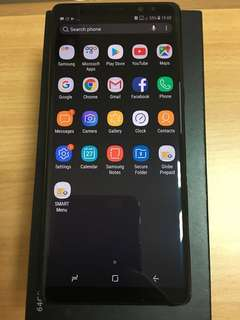 Samsung Galaxy Note 8 Duos Factory Unlocked with Box May 2018 Purchased