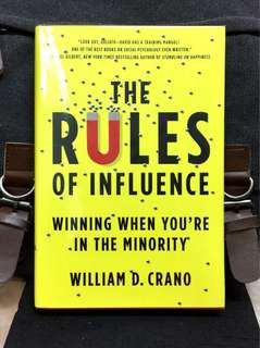 《Preloved Hardcover +Powerful Guide To Overcome Overwhelming Odds & Take Back Control Under Inhospitable Condition》William D. Crano - THE RULES OF INFLUENCE : Winning When You're in the Minority