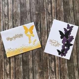 Cards - butterlies