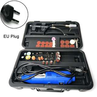 🚚 US/EU Plug Mini Electric Set Speed Adjustable Cutting Grinding Drilling Tool Kit