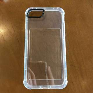 Clear shockproof case with card slot for iphone 7/8
