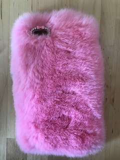 Pink fur case for iPhone 6PLUS