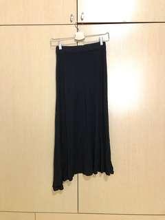🚚 棉質心機側開叉長裙