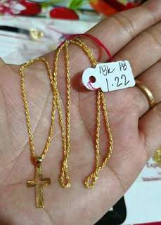 18k saudi gold necklace with anchor pendant