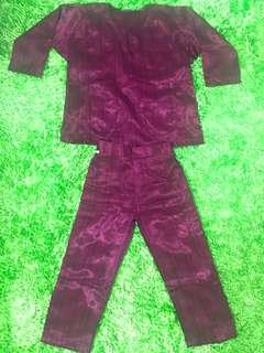Baju Melayu Budak Purple