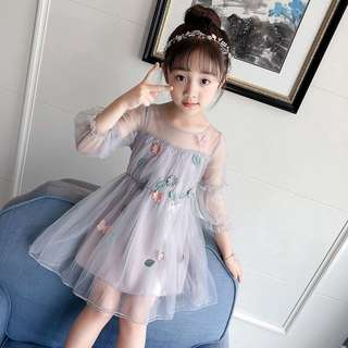 Korea style flora baby girl wedding dinner dress