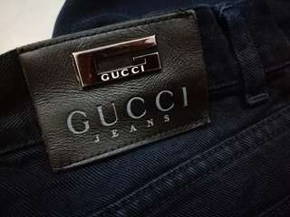 GUCCI MEN'S CROPPED JEANS