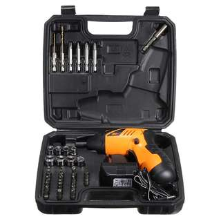 🚚 45 in 1 Power Tool Set Rechargeable Cordless Electric Screwdriver Drill Kit
