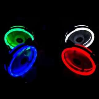 雙光環 風扇 電腦風扇 散熱風扇 LED風扇 機殼 12公分 附螺絲