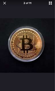 Bitcoin Collectible Commemorative Coin with PLASTIC COIN CASING (preorder)