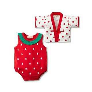Strawberry Baby Costume Romper