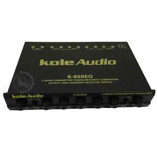 KOLE AUDIO (K-808EQ) 4 BAND PARAMETRIC EQUALIZER PRE AMPLIFIER