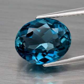 Natural, 4.25ct London Blue Topaz 10.7x8.5mm Oval Brazil