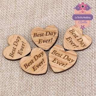 PROMO: Wedding Guestbook Wooden Hearts