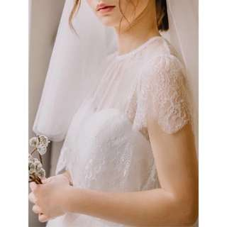 Premium Lace Wedding Top with Cap Sleeves #mayflashsale