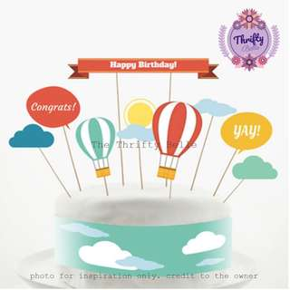 PROMO: Kiddie Birthday Cake Cupcake Toppers