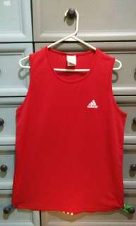 Adidas Red Tank Top Dri-Fit