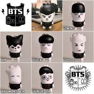 BTS hip hop monster doll keychain