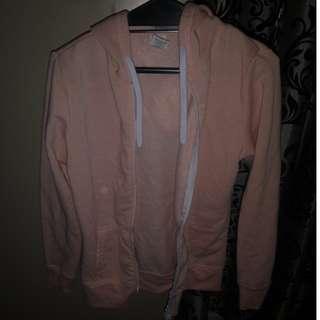 Peach zip up hoodie
