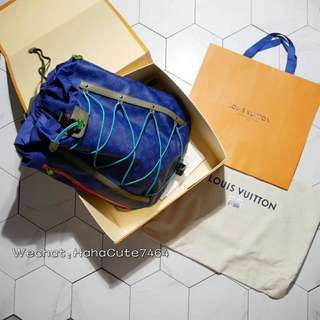 (价格私询)Lv 18SS秀款Backpack Outdoor棕色双肩包 /背包/书包