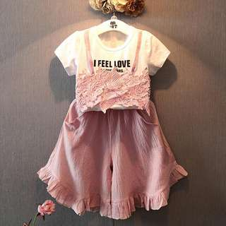 Korea style baby girl summer style cloth set