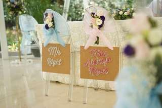 Mr & Mrs Sign Boards (Wedding / ROM)