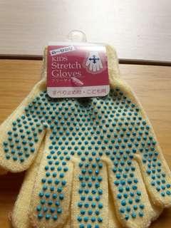 止滑保暖童手套 黃色