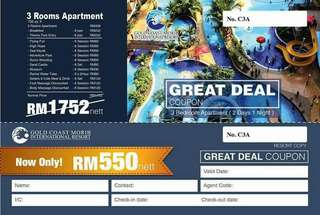 Voucher Gold Coast Morib , Banting