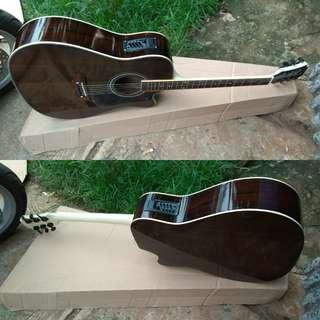 Gitar akustik elektrik coleclark jumbo