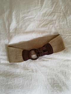 Massimo Dutti Woven & Leather Hip/Waist Belt