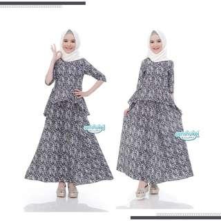 3-in-1 hijab set abu (5-10T)