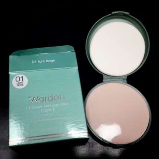 [JAMIN ORI] Wardah Refill Exclusive Two Way Cake  Warna 01 (BEIGE) SPF 15