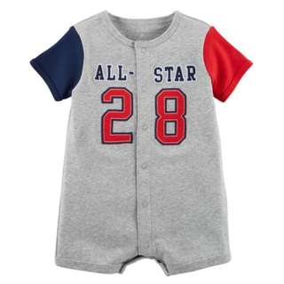 All-Star Snap-Up Cotton Romper