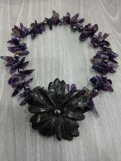 🚚 漂亮紫水晶珍珠項鍊