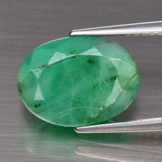 2.98ct 11.6x8.6mm Oval Natural Green Emerald, Zambia