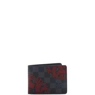 Authentic Louis Vuitton Damier Graphite Slender Wallet