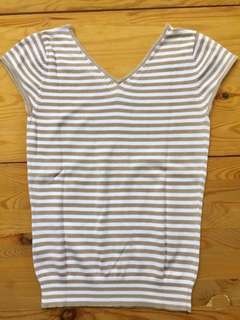 Giordano stripes blouse