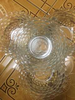 RUSH SALE!! 9 pc Clear Bowl and Semi Plate Set