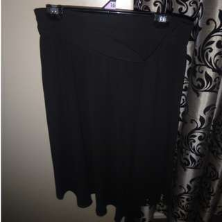 Black silk skirt